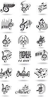 Music Designs Muzika Hudební Tetování Hudební Noty A Skicování