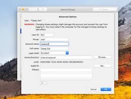 How to Change Mac User Account and Home Directory Name