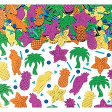 Confettis de table thème tropical exotique - Achat / Vente