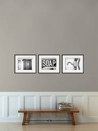 Rustic Bathroom Wall Decor Bathroom Wall Art Set of 3 Prints or