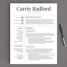 resume template professional resume template cv template for word and pages one two and three page resume instant download resume proffesional resume templates
