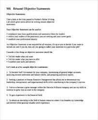 Resume Objective Statements Stunning Resumes Objective Statements 28 Sample Resume Objective Statement
