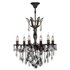 worldwide lighting versailles 6 light flemish brass crystal chandelier