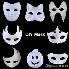 best diy mask hand painted white face mask zorro crown erfly blank paper mask masquerade party cosplay masks cw0298 venetian mask venetian