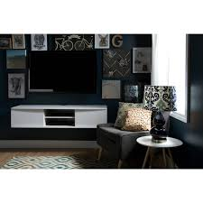 inspired kitchen cdab white brown: south shore agora wall mounted tv stand for tvs up to quot multiple finishes walmartcom