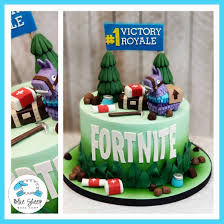 Fortnite Battle Royale Birthday Cake Blue Sheep Bake Shop