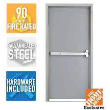 exterior commercial door handles. Wonderful Commercial 36 In X 80 FireRated Gray LeftHand Flush Steel In Exterior Commercial Door Handles The Home Depot
