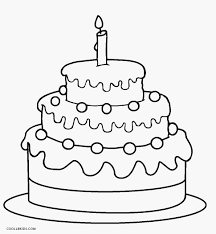 A birthday card in english. Free Printable Birthday Cake Coloring Pages For Kids