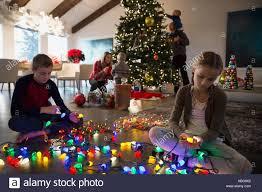 Untangle Christmas Tree Lights Brother And Sister Untangling Christmas Tree String Lights