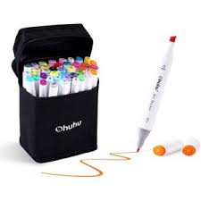 Ohuhu 40 Color Alcohol Marker Dual Tips Permanent Art Markers For Kids Highlighter Pen Sketch Markers For Drawing Sketching Adult Coloring