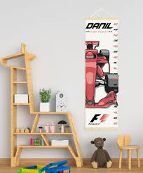 Canvas Height Chart Race Car Growth Chart Growth Chart Personalized Canvas