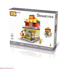 loz city series street view mcdonaldes model embled building blocks patible with legos educational toys gifts