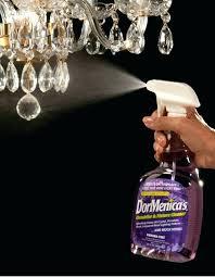 how to clean crystal chandelier spray vinegar light