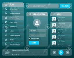 Transparent Mobile User Interface Template Design Layout For