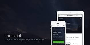 Lancelot – simple and elegant app landing page by chernushevich ...