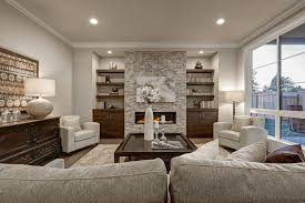 most people put either a table lamp or floor lamp in their living room