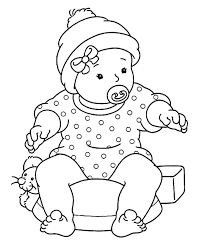 Small Picture Baby Coloring Pages For Kids Free Printable Toddler Coloring