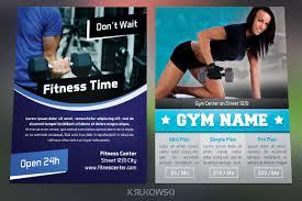 Gym Fitness Flyers Bundle By Krukowski | Design Bundles