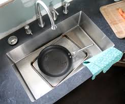 an undermount sink in laminate countertops