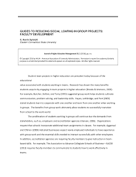 Pdf) Guides To Reducing Social Loafing In Group Projects: Faculty ...
