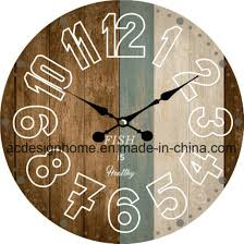 best ers antique round mdf wooden wall clock with fish is health design for interior decor
