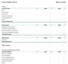 Example Classified Balance Sheet Classified Income Statement Template