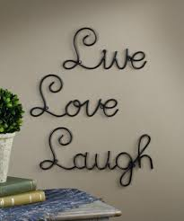 live love laugh set 3 wall mount metal wall word sculpture by super z com