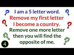 video 4 i m a 5 letter word riddle