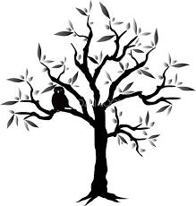 かっこいい木とフクロウの無料イラスト81494 素材good