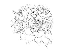 バラの花束白黒イラスト No 553258無料イラストならイラストac
