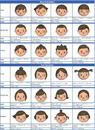 New Leaf Hair Color Chart How To Do The Hairstyles Of The Characters In Animal