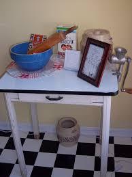 Enamel Top Cabinet Vtg Enamel Top Kitchen Table Porcelain Top Mid Century Chic Wooden