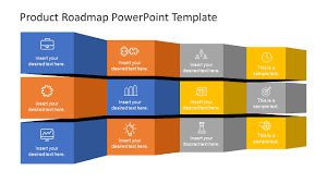product timeline template folded product roadmap timeline template slidemodel