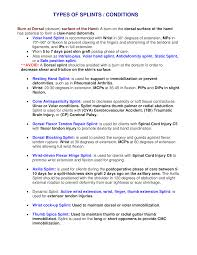 Types Of Splints Conditions Ot Fm Pinterest Conditioning