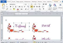 Thanksgiving Place Cards Maker Template For Word