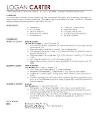 Objective For Sales Associate Resume Retail Sales Associate Resume Srhnf Info