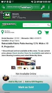 menards gift registry two used retractable awnings from in hlside menards gift registry
