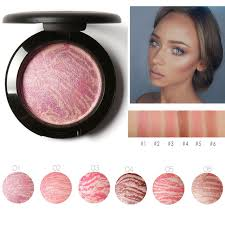 focallure top quality professional 6 color cheek glow blush bronzer blusher with brush natural base makeup easy to make up