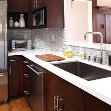 best cherry cabinets ideas on with quartz countertops