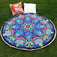 new hippie round mandala tapestry indian wall hanging summer boho printed beach throw towel scarf shawl wrap yoga mat