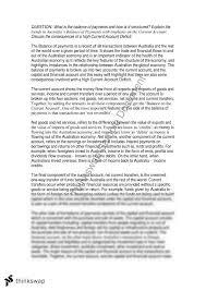 balance of payments essay year hsc economics thinkswap balance of payments essay