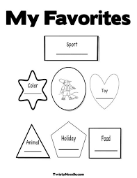 Small Picture All About Me Coloring Page from TwistyNoodlecom Back to School