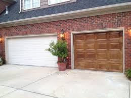 how to update your garage door with a coat of stain2
