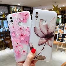 <b>Luxury 3D Relief Flower</b> Cover Case For Huawei Nova 2i 3 3i P10 ...