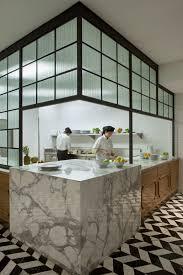 Restaurant Kitchen Tiles Residential Kitchen Inspired Marble Counters Stunning Chevron