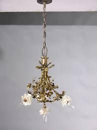 4 light french art nouveau chandelier