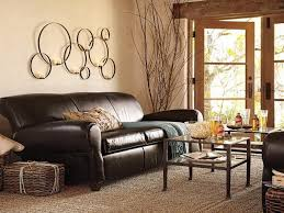 Living Room  Witching Brown L Shaped Sofa In Leather Material - Leather livingroom