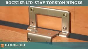 rockler lid stay torsion hinges