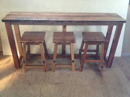 breakfast bars furniture. Rustic Reclaimed Barn Wood Furniture - Breakfast Bar With 3 Stools Handmade Custom Amish Bars S