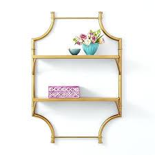gold wall shelf rose gold hexagon wall shelf